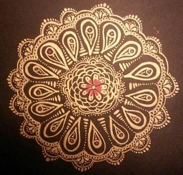 Golden Mandala by Lori Thompson