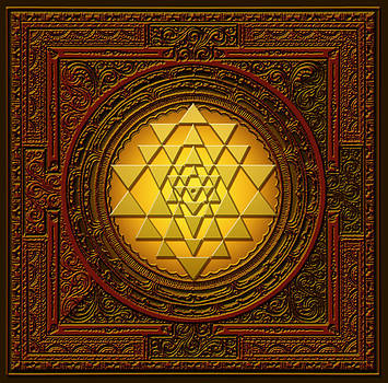Golden  Sri Lakshmi Yantra by Lila Shravani