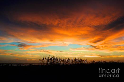 Golden Sunset at the Sandbar by Margie Amberge