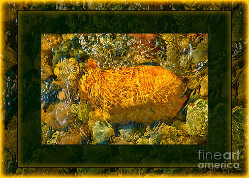 Omaste Witkowski - Golden Surprises In the Methow River Abstract Painting