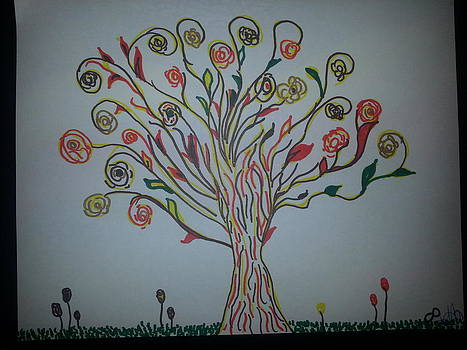Golden tree by Felicia Anguiano