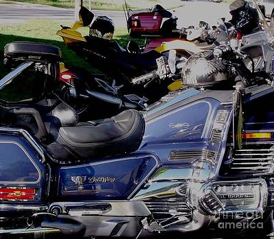 Gail Matthews - Goldwing plus Spyder plus Harley equals Ride for Dad for Prostate Cancer