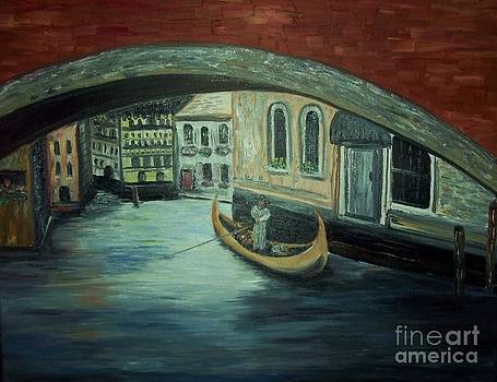 Gondola in Venice by Rhonda Lee