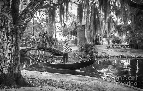 Kathleen K Parker - Gondolier on City Park Lagoon