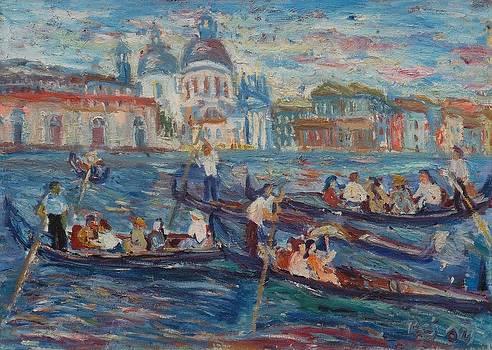 Gondoliers I by Borislav Djukanovic