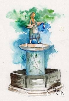 Goose Girl Fountain by Sandi Stonebraker