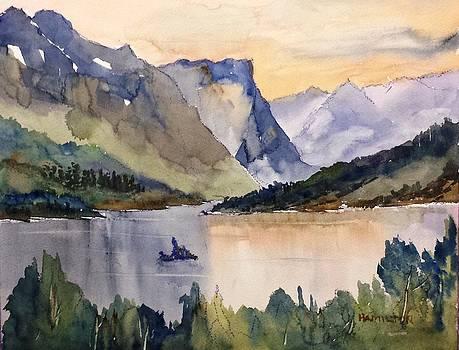 Goose Island Glacier National  Park by Larry Hamilton