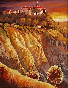 GORDES  Luberon France by Santo De Vita