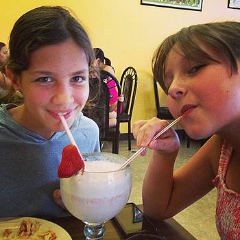 Grace And Ashlynn Sharing A Shake After by Nadine Rippelmeyer