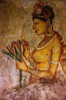 Jenny Rainbow - Graceful Apsara with Lotus. Sigiriya Cave Painting