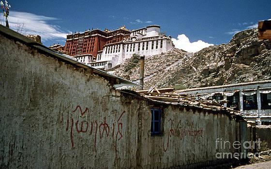 Graffiti in Lhasa by Scott Shaw