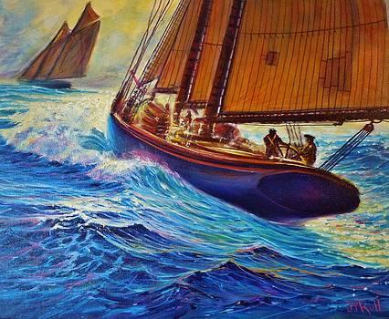 Grand Banks Fishermen by Joseph   Ruff
