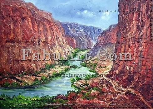 Grand Canyon Colorado River Painting by FabuArt