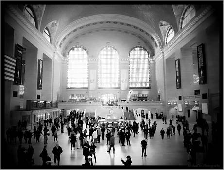 Grand Central Station Black and White by Jessica Cirz