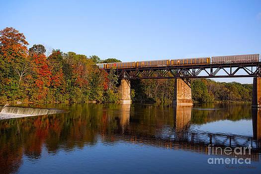 Barbara McMahon - Grand River Autumn Freight Train