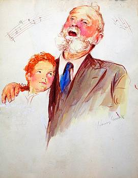 Grandfather Singing to Granddaughter by Henry Goode