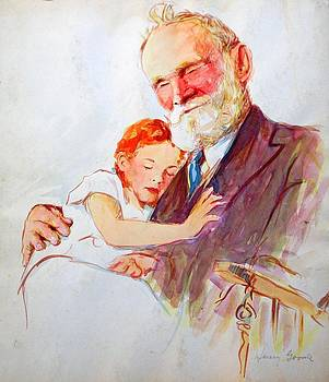 Grandfather with Granddaughter by Henry Goode
