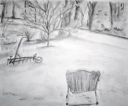 Grandpa's Backyard II by Helena Bebirian