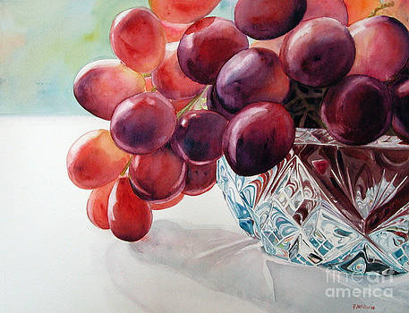 Grapes and Crystal 1 by Elizabeth  McRorie
