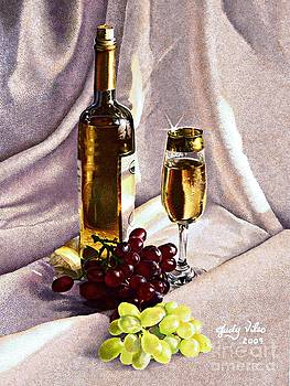 Grapes and wine by Judy Skaltsounis