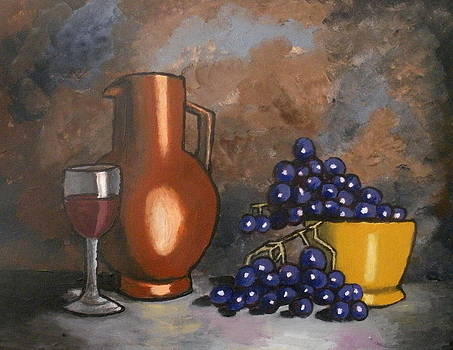 Grapes and Wine by Mats Eriksson