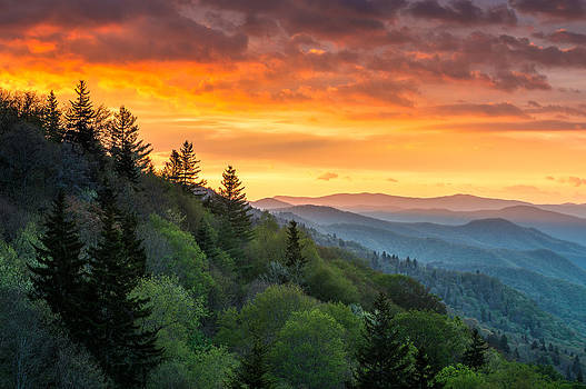 Great Smoky Mountains North Carolina Scenic Landscape Cherokee Rising by Dave Allen