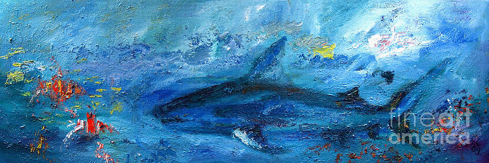 Ginette Callaway - Great White Shark Coral Reef Ocean Life