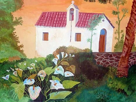 Greek church by John Davis