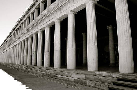 Corinne Rhode - Greek Columns Black and White