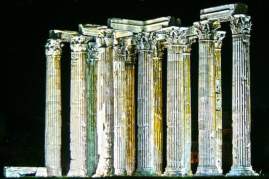 Greek Ruins by Randy  Shellenbarger