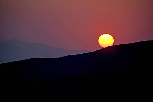 Greek sunset by Frits Selier