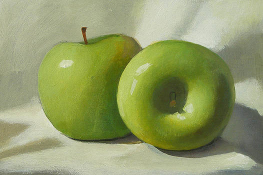 Green Apples by Peter Orrock