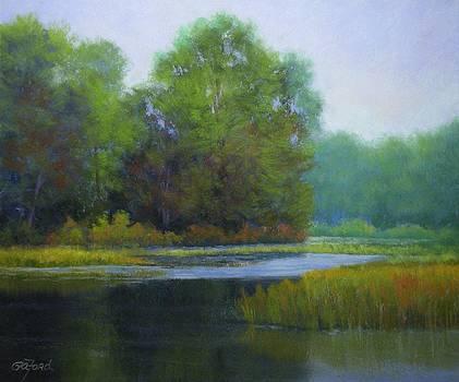 Green Bridge Looking North by Paula Ann Ford