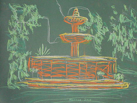 Green Fountain by Marcia Meade