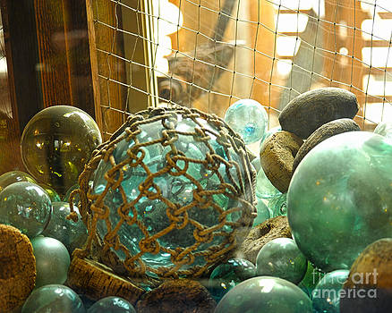 Artist and Photographer Laura Wrede - Green Glass Japanese Glass Floats