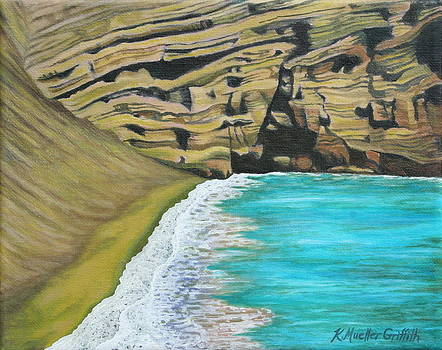 Green Sand Beach by Kristine Mueller Griffith