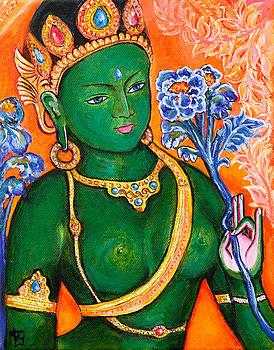 Green Tara 1 by Peta Garnaut