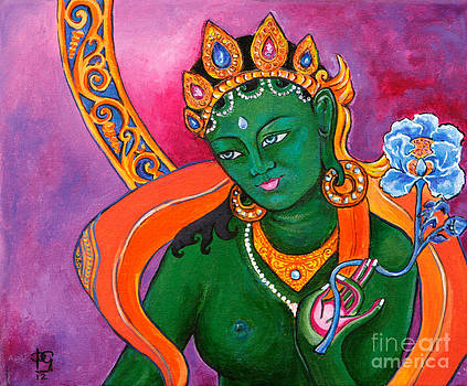 Green Tara with Lotus by Peta Garnaut