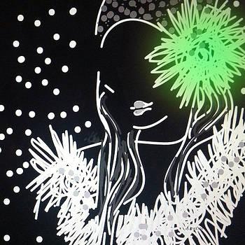 Green Tasselled Cloche by Darlene Watson