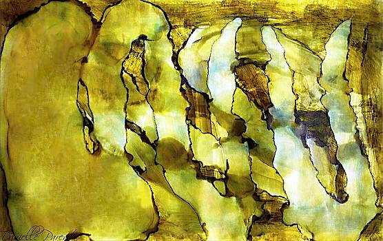 Green With Envie Abstract Alcohol Inks by Danielle  Parent