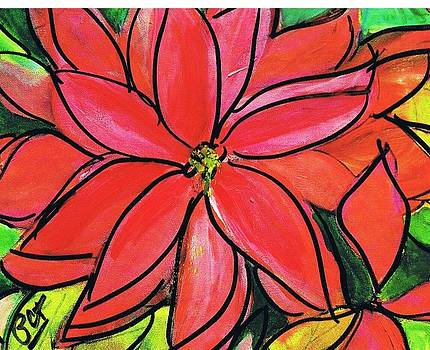 Patricia Taylor - Greeting Card Poinsettia