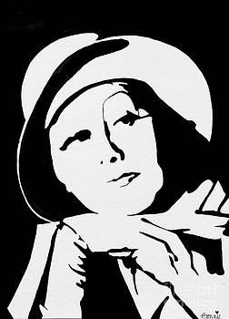 Greta Garbo #2 by Bonnie Cushman