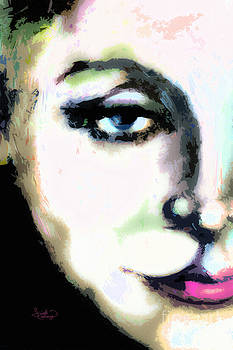 Ginette Fine Art LLC Ginette Callaway - Greta Garbo Modern Art Portrait