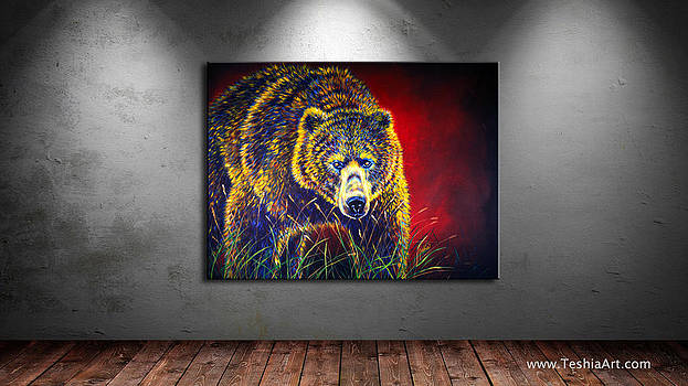 Teshia Art - Grizzly Gaze DISPLAY IMAGE