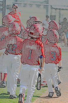 Group of little league baseball players by Tammy Abrego