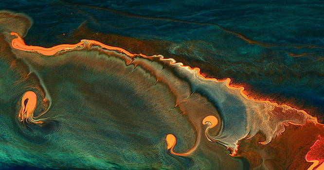 Growing Emotions - Contemporary Fluid Abstract Art by kredart by Serg Wiaderny