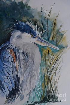 Grumpy Heron by Betty Mulligan