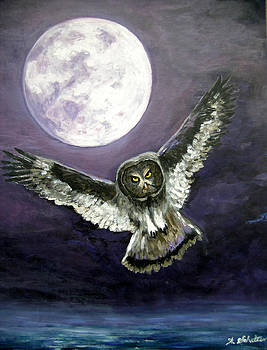 Great Grey Owl of The Guiding Light by Amy Scholten