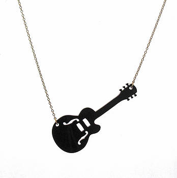 Guitar Pendant Necklace by Rony Bank