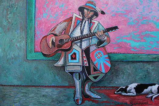 Guitar Slinger and Dog by Carlos Sandoval